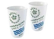 ロイヤル コペンハーゲンフルーテッド シグネチャー ペアフリーカップ